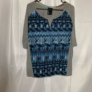 Dolan T shirt size XS embroidered Anthropologie